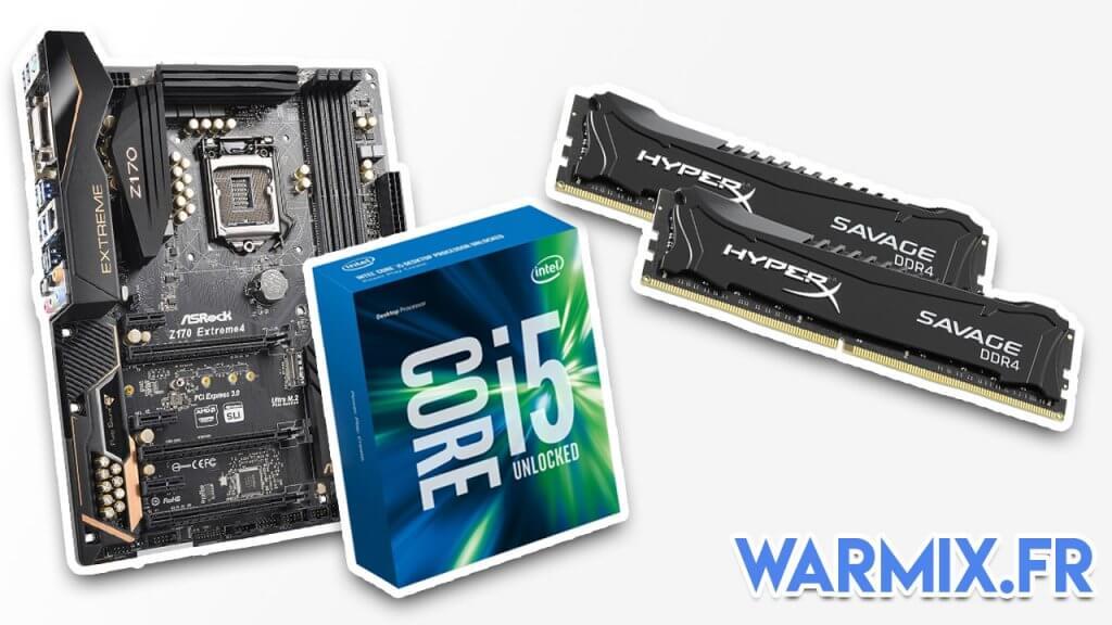 processeur i5 6600k carte mere asus extreme 4 et ram 16 go hyperx config pc gamer a 1000 euros