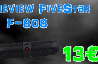 Review de l'enceinte bluetooth Fivestar F-808 – 2016