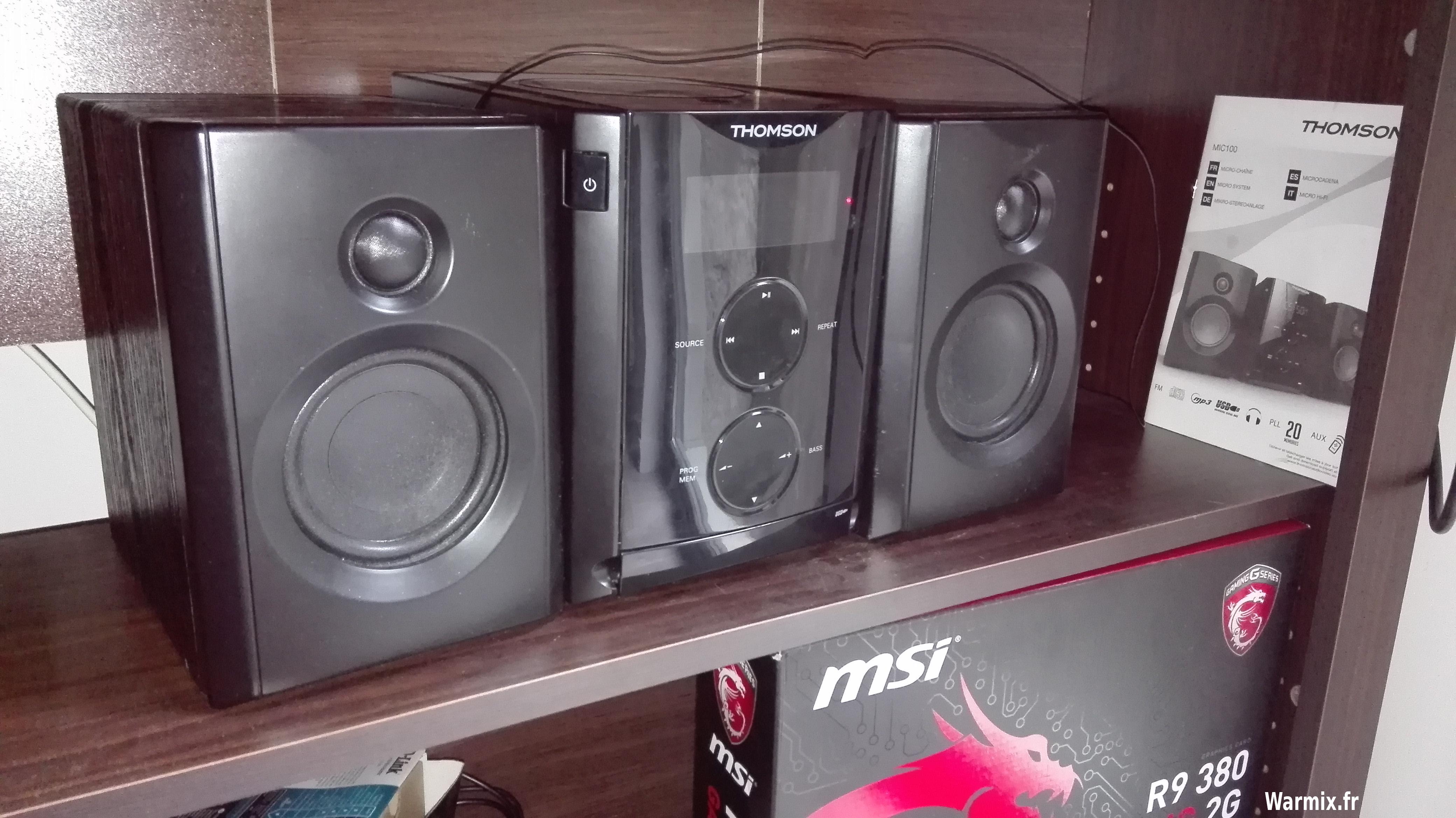 Thomson Mic 100 photo enceintes pas chères