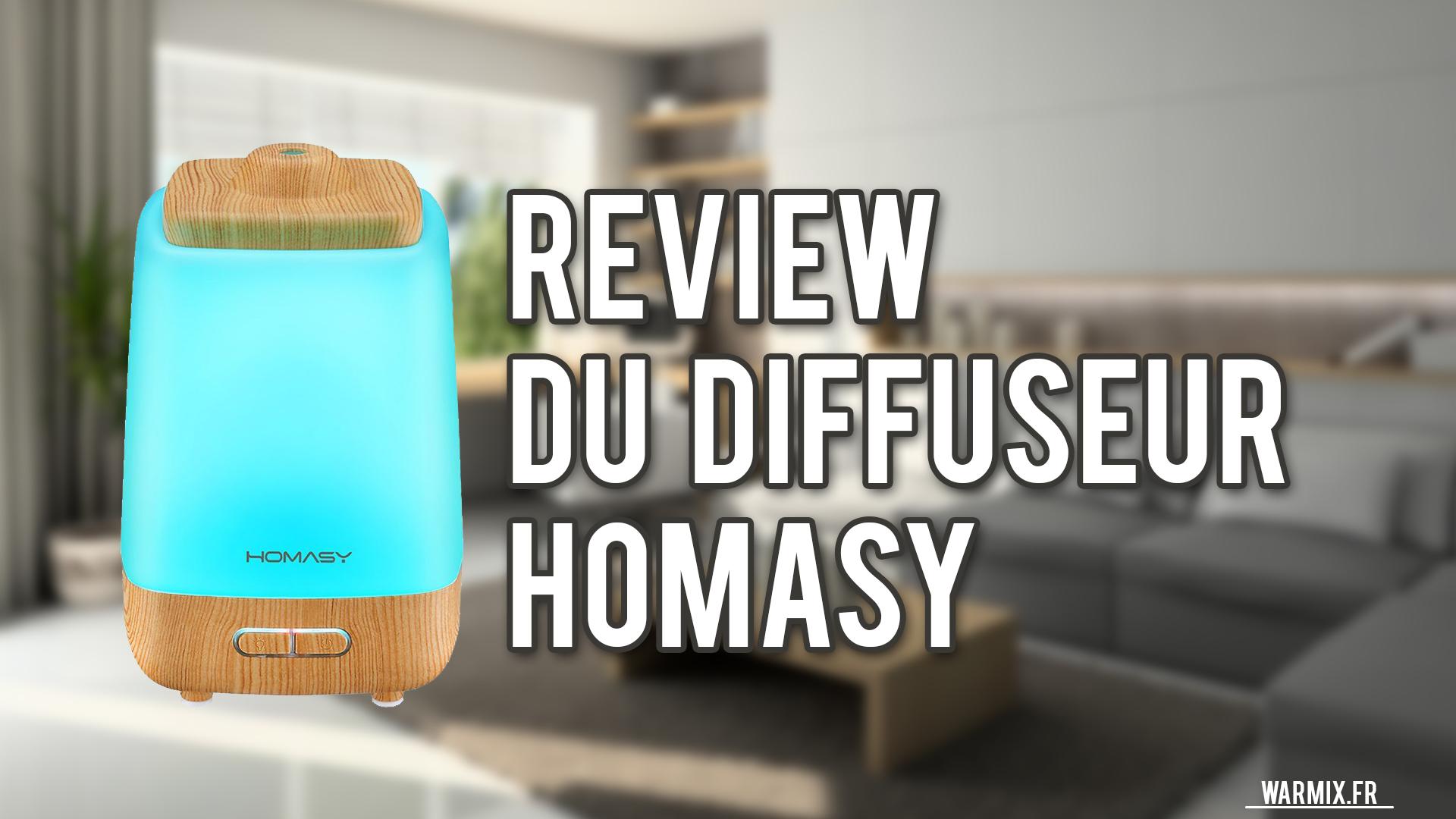 REVIEW – TEST DU DIFFUSEUR D'ARÔME HOMASY