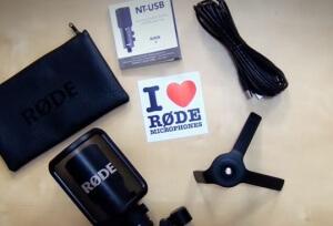 Microphone et ses accessoires bundle rode nt-usb