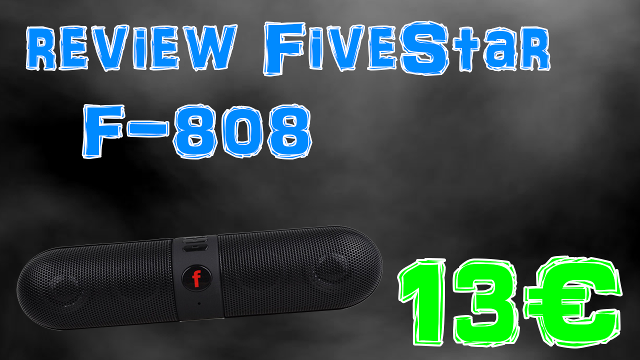 Review de l'enceinte bluetooth Fivestar F-808 – 2016