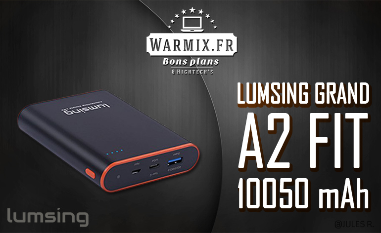 Test & Review : la batterie Grand A2 Fit 10050 mAh de chez Lumsing ! – Avis 2017