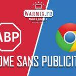 Fin publicités intrusives chrome warmix.fr